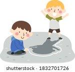 illustration of kids boys... | Shutterstock .eps vector #1832701726