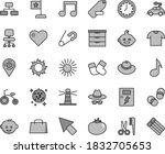 thin line gray tint vector icon ...   Shutterstock .eps vector #1832705653