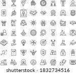thin outline vector icon set... | Shutterstock .eps vector #1832734516
