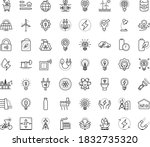 thin outline vector icon set...   Shutterstock .eps vector #1832735320