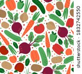 decorative seamless pattern... | Shutterstock .eps vector #1832742550
