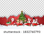 merry christmas and happy new... | Shutterstock .eps vector #1832760793