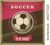 soccer background with retro... | Shutterstock .eps vector #183277223