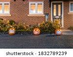 Halloween Pumpkins Wearing A...
