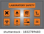 laboratory safety icon and...   Shutterstock .eps vector #1832789683