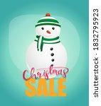 christmas sale poster design... | Shutterstock .eps vector #1832795923