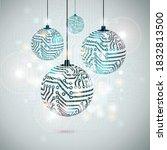 vector christmas conceptual... | Shutterstock .eps vector #1832813500