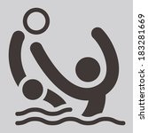 summer sports icons   water... | Shutterstock .eps vector #183281669