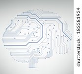 circuit board computer style... | Shutterstock .eps vector #183281924