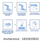 instructions on how to safely... | Shutterstock .eps vector #1832820820