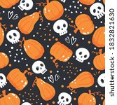 seamless pattern for halloween... | Shutterstock .eps vector #1832821630