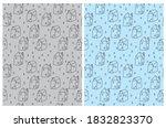 cute seamless vector patterns... | Shutterstock .eps vector #1832823370