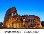 majestic coliseum photographed... | Shutterstock . vector #183284564