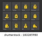 set of gift box symbols. vector ...