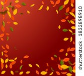 falling autumn leaves. red ... | Shutterstock .eps vector #1832898910