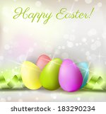 easter shiny background with... | Shutterstock .eps vector #183290234