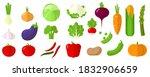 flat design vector fresh raw... | Shutterstock .eps vector #1832906659