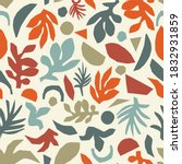 fall leaf collage seamless... | Shutterstock .eps vector #1832931859