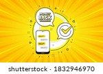 money back guarantee. yellow... | Shutterstock .eps vector #1832946970