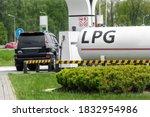 Liquid Propane Gas Station....