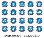blue buttons on white background | Shutterstock .eps vector #183299510