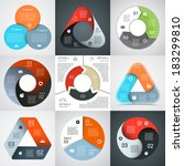 vector circle and triangle... | Shutterstock .eps vector #183299810