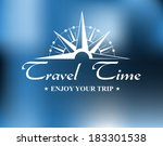 travel header with vintage... | Shutterstock .eps vector #183301538