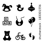 set of nine different black and ...