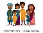 indian family. boy  girl kids... | Shutterstock .eps vector #1833022066