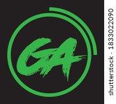 GA Letter Logo Design Creative Icon Modern Letters Vector Logo