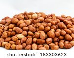 a pile of peanuts on white... | Shutterstock . vector #183303623