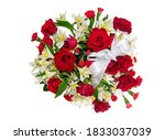 Red Rose Bouquet With Red...