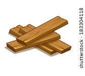 wood planks isolated... | Shutterstock .eps vector #183304118