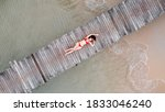 Aerial View Of Asian Woman In...