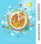 culinary tourism vector poster  ... | Shutterstock .eps vector #1833050953
