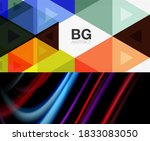 set of modern geometric shapes... | Shutterstock .eps vector #1833083050