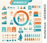 infographics elements. vector... | Shutterstock .eps vector #183308423