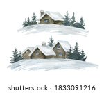Watercolor Winter Illustration...
