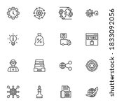 seo line icons set  outline... | Shutterstock .eps vector #1833092056