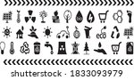 ecology icons vector... | Shutterstock .eps vector #1833093979