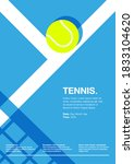 tennis championship and... | Shutterstock .eps vector #1833104620