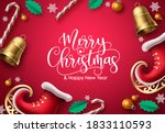 merry christmas vector... | Shutterstock .eps vector #1833110593
