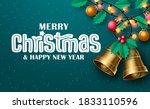 merry christmas vector... | Shutterstock .eps vector #1833110596