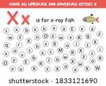 dot or color letter x. alphabet ... | Shutterstock .eps vector #1833121690