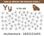 find and color all letters y... | Shutterstock .eps vector #1833121693