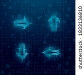 futuristic cyberpunk glitch set ... | Shutterstock .eps vector #1833136810