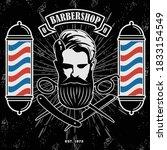 barbershop logo  poster or...   Shutterstock .eps vector #1833154549