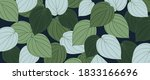 hand drawn leaves line arts... | Shutterstock .eps vector #1833166696