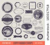 empty rubber stamps with... | Shutterstock .eps vector #183317918