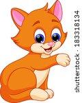funny cat cartoon | Shutterstock . vector #183318134